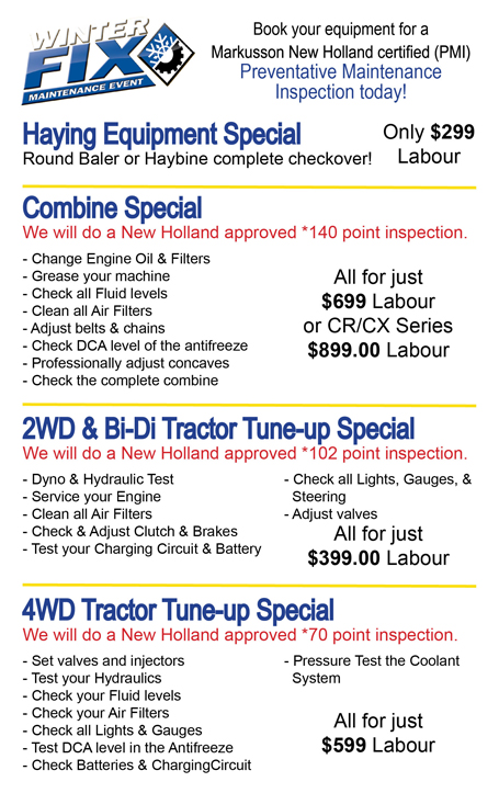 Ag Service Specials